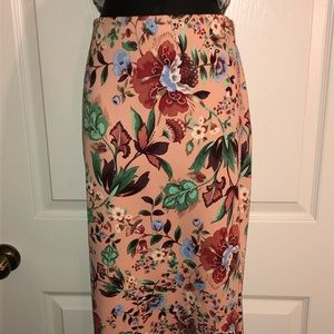 NWT New York and Company Floral Midi Skirt
